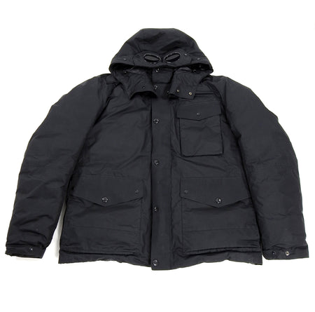 C.P. Company Black Down Parka With Built-In Goggles