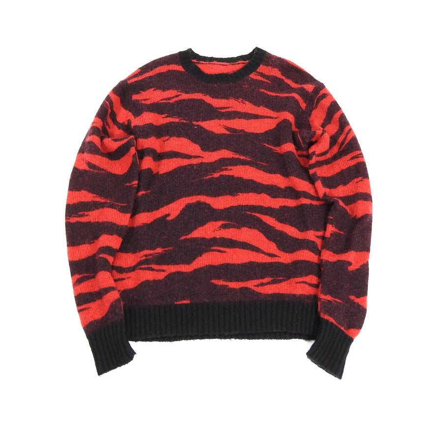 Maharishi Red Tiger Camo Wool Knit Sweater