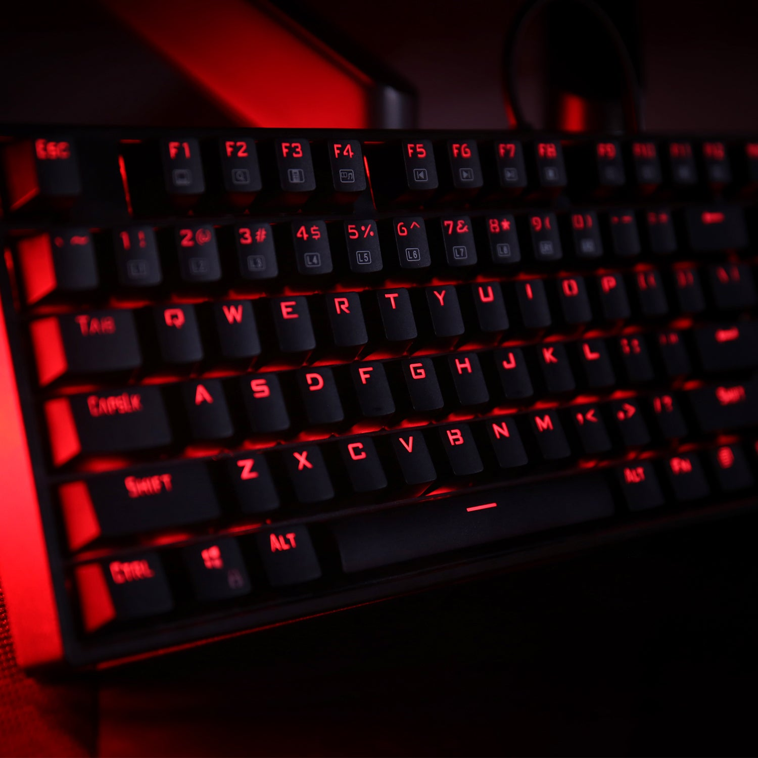 Red LED Backlit Mechanical Gaming Keyboard