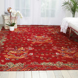 DYN04 Red-Traditional-Area Rugs Weaver