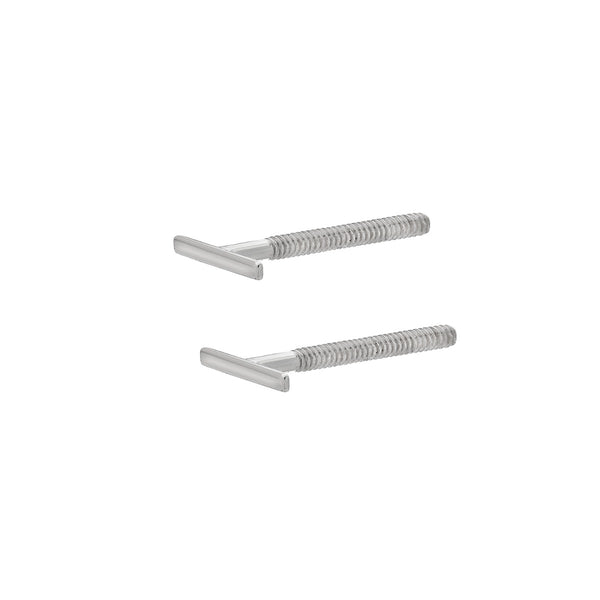 TousiAttar Bar Stud Earrings 14k White Gold