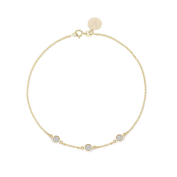 TousiAttar  Diamond Bracelet 0.15ct Yellow Gold