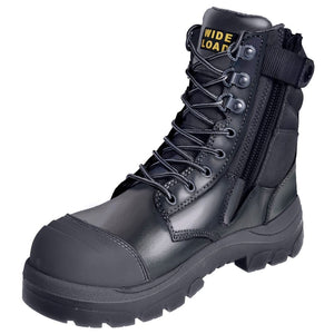 890BZ - High Leg Extra Wide Side Zip Safety Boot - Black