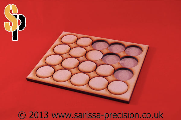 10x2 Conversion Tray for 50mm round bases