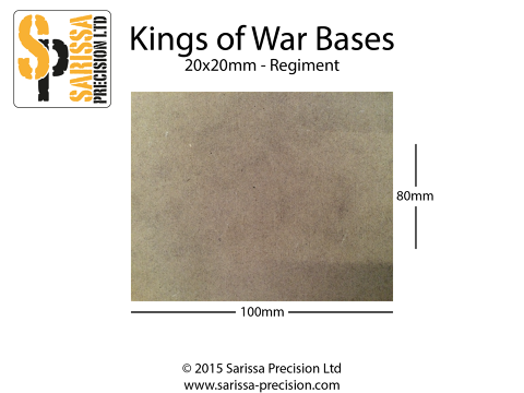 Regiment Base 100x80mm 20x20