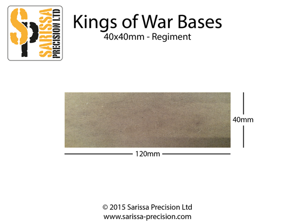 Regiment Base 120x40mm 40x40