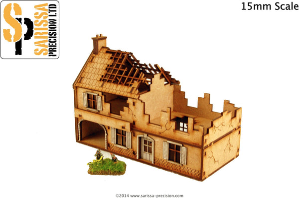 Destroyed Large Farmhouse (15mm)