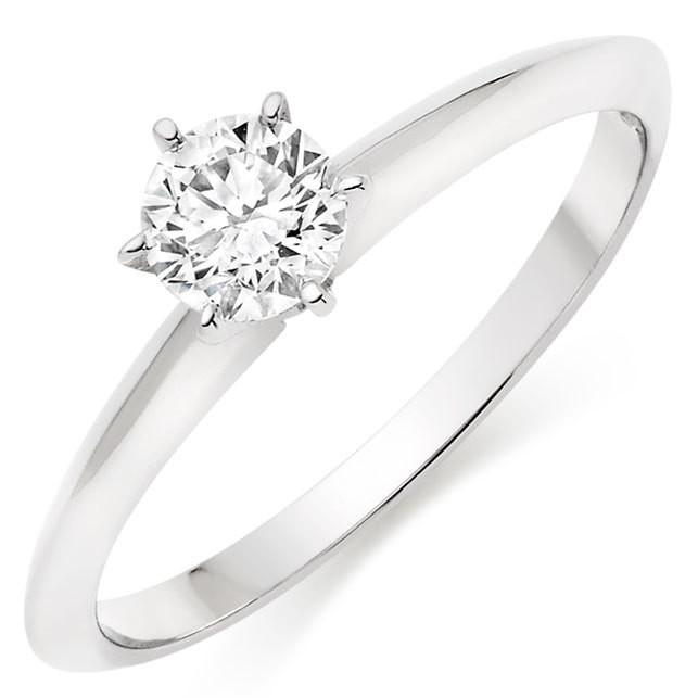 Choose in 14 Karat, 18 Karat or Platinum  Diamond Solitaire Ring
