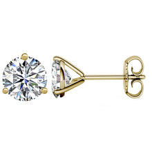 14 KARAT YELLOW GOLD 3-PRONG ROUND 1.00 C.T.W