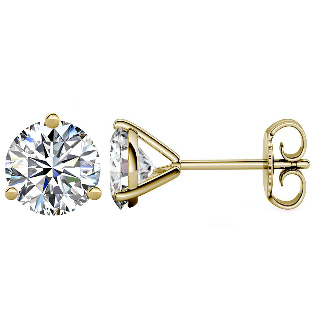14 KARAT YELLOW GOLD 3-PRONG ROUND 10.00 C.T.W