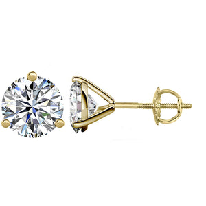 14 KARAT YELLOW GOLD 3-PRONG ROUND 8.00 C.T.W