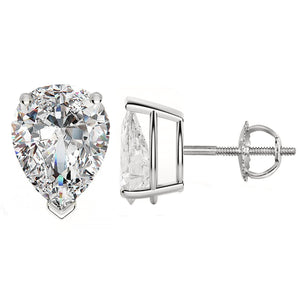 14 KARAT WHITE GOLD PEAR 0.75 C.T.W