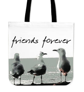 FRIENDS FOREVER SEAGULL TOTE BAG