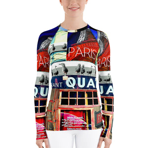 WOMEN'S RASH GUARD LONG SLEEVE PARIS