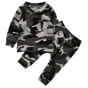 Camo Jumper and Pants Set