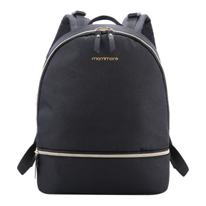 Black Canvas Nappy Backpack,,Mommore,CIAMBI diaper bag, nappy bag, change bag