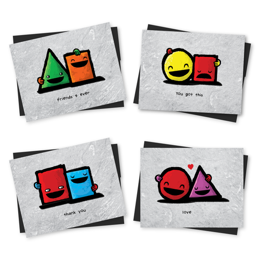 All Shapes greeting cards
