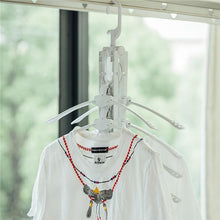 Load image into Gallery viewer, Magic folding laundry rack folding clothes hanger