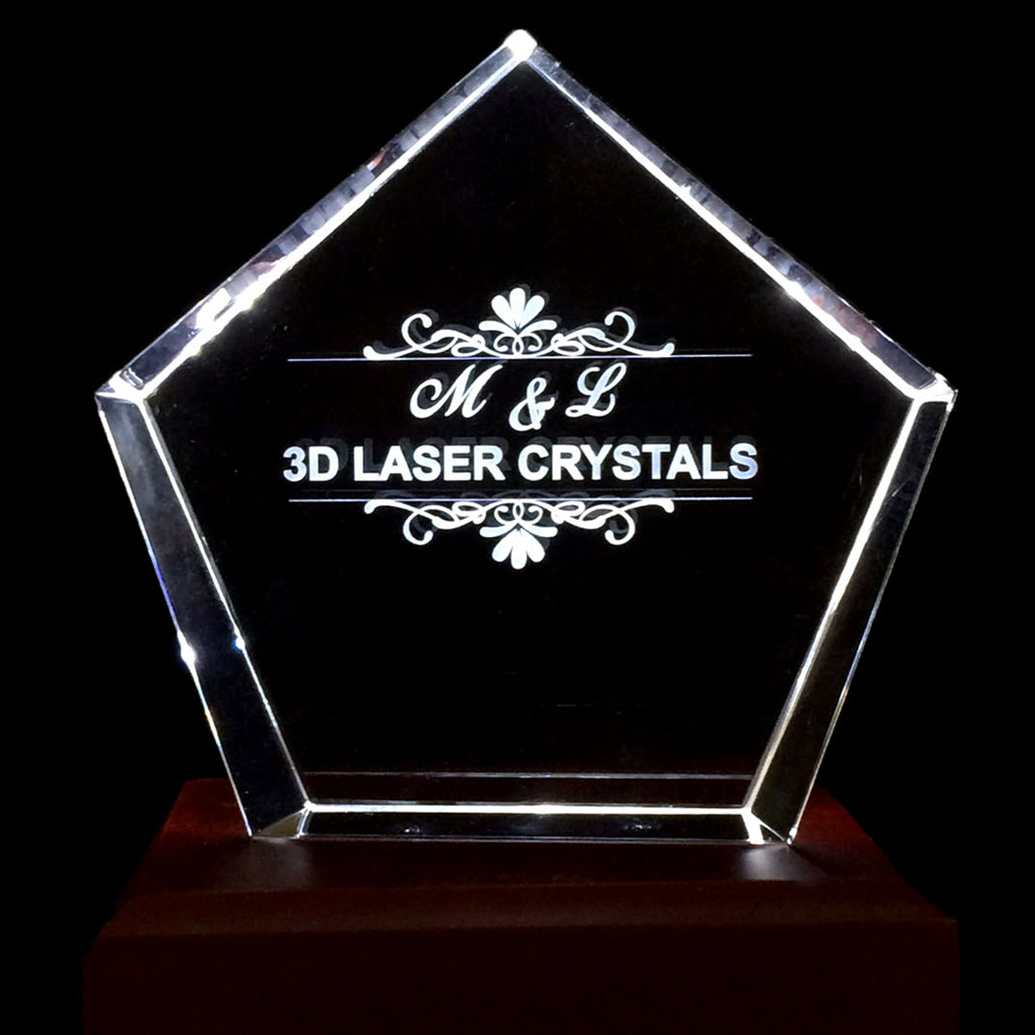 "Arrow Crystal  4""x4.75"" x 4.75"" Starting at"