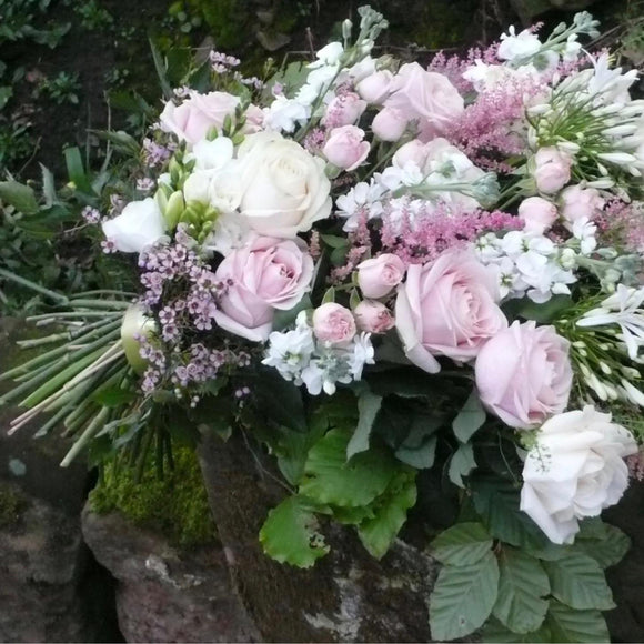 Sheath of Mixed Soft Pink Roses