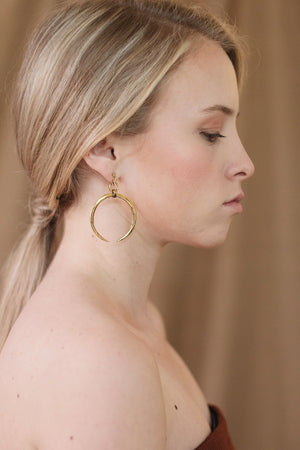 In A Perfect World Crescent moon dangle earring