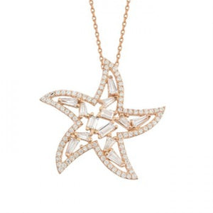 BAGUETTE STARFISH NECKLACE