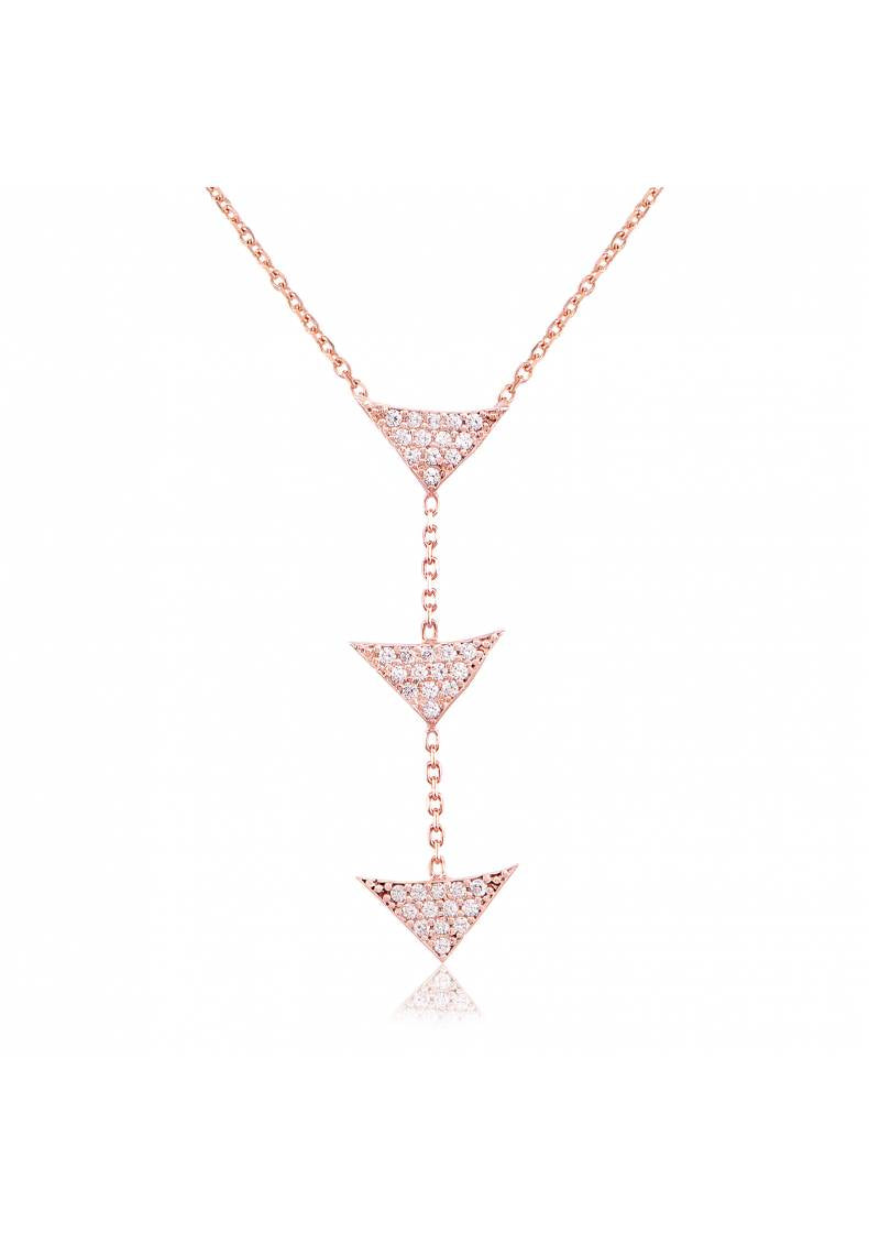 ROW OF TRIPLE PYRAMID NECKLACE