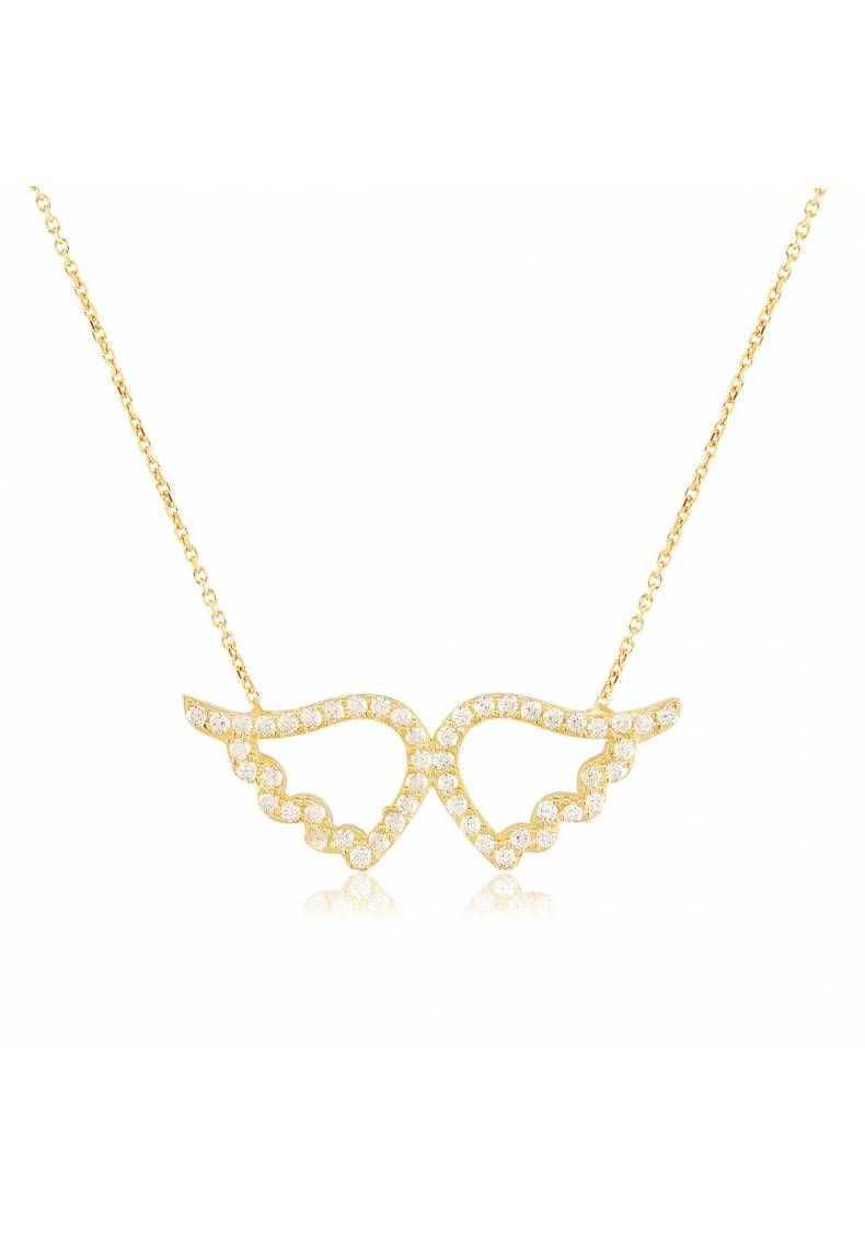 PAVE ANGEL WINGS NECKLACE