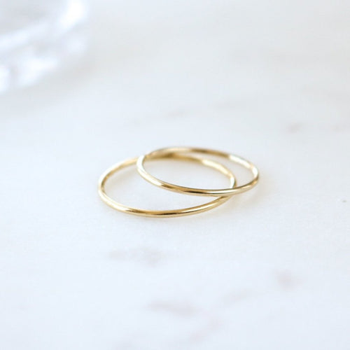 Fin Ring - Sterling Silver (Gold)
