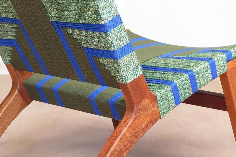 Masaya & Co. Masaya Lounge Chair, Emerald Coast Pattern Lounge Chair: In-Stock Masaya & Co.