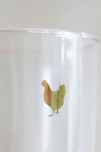 Golden Chicken Double Old Fashioned Glass