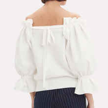 ADEAM - Off Shoulder Sweater White