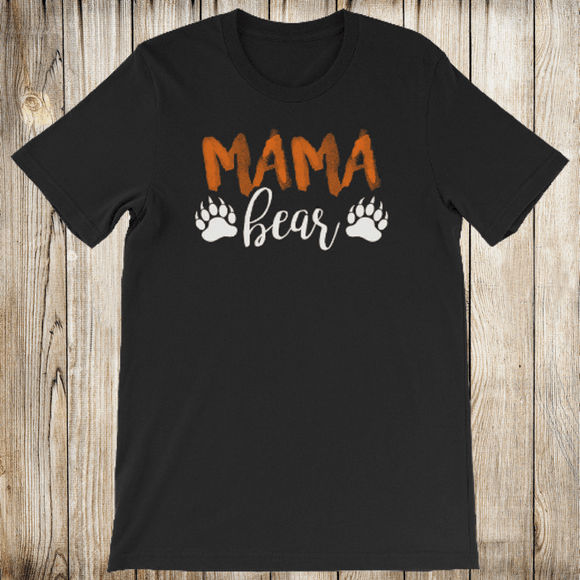 Mama Bear Shirt for Women - Short-Sleeve (Adult) Black