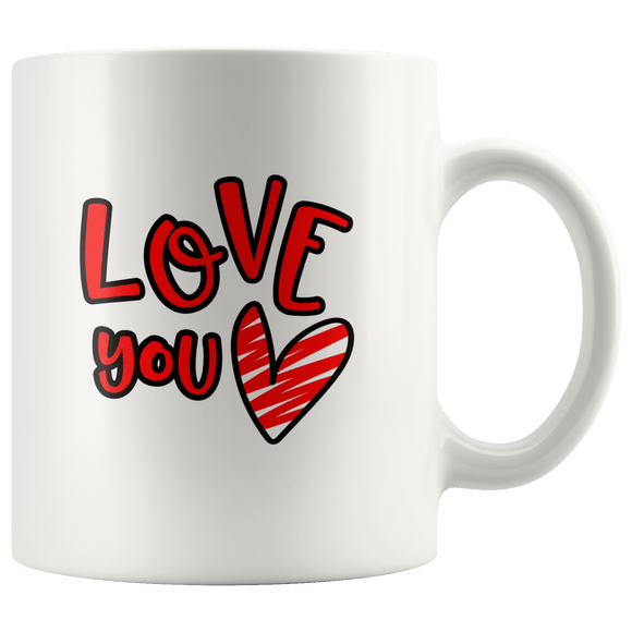 Love You Mug 11oz Wht