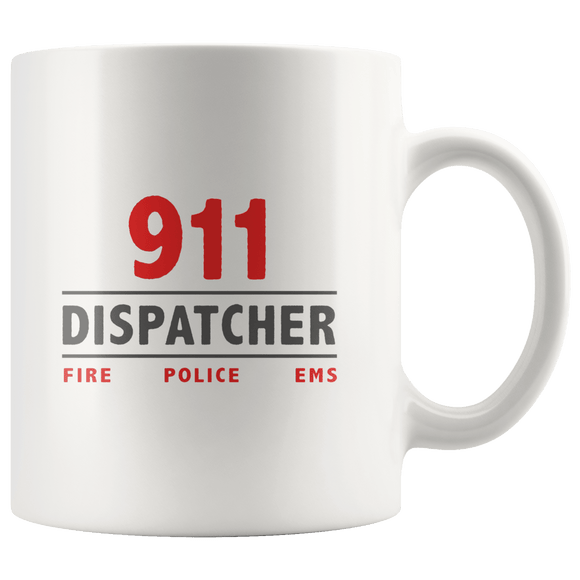 911 Dispatcher Mug 11oz Wht