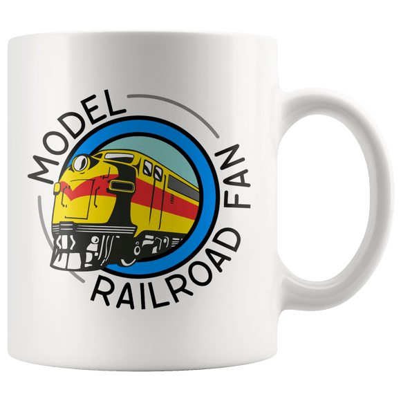 Model Railroad Fan Mug 11oz Wht