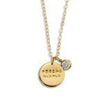 """Rescue Mama"" Small 3/4"" Coin with Crystal Necklace"