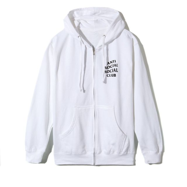 Anti Social Social Club (ASSC) - Hoodie -Zip Up White