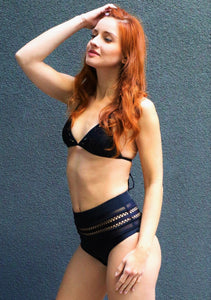 AVA Black high waist bikini set- Chika Boom Boom