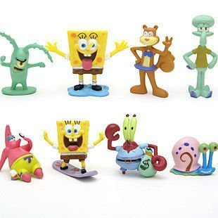 Spongebob Squarepants Spongebob 2 Figure Set Of 8 Multicoloured, 1Pac