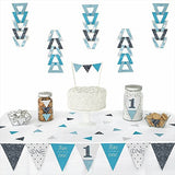 1St Birthday Boy - Fun To Be One - Triangle Party Decoration Kit - 72 Pieces