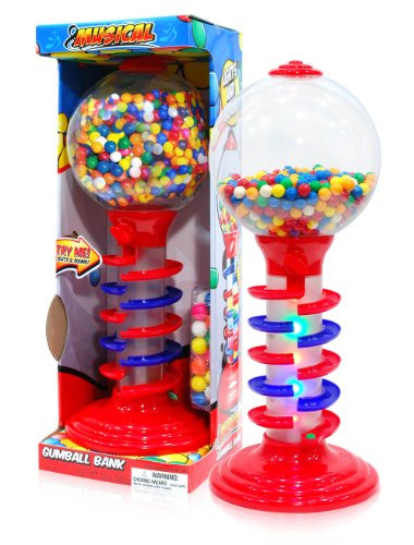 Sweet N Fun Light And Sound Spiral Gumball Bank With 340G Gumballs, 21