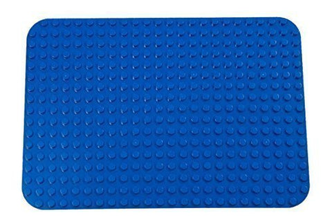 Strictly Briks Premium Blue Base Plate - 15 X 10. 5 Baseplate - Compatible With All Major Large Size Brands  Large Pegs Only