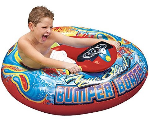Banzai Aqua Blast Inflatable Motorized Water Blaster Bumper Boat For Kids
