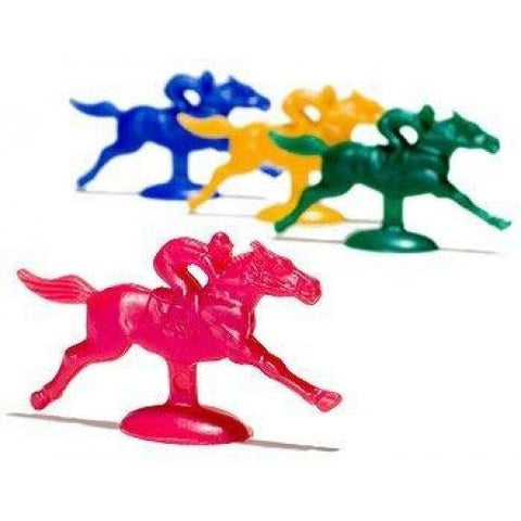 Plastic Horse And Jockey Figures (Assorted Colors) By Caufield'S