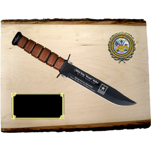 AR68 - ARMY BASSWOOD PLANK (KA-BAR not included}
