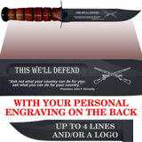 "AR86B - ARMY Comm - ""THIS WE'LL DEFEND"" + YOUR PERSONAL ENGRAVING ON THE BACK"