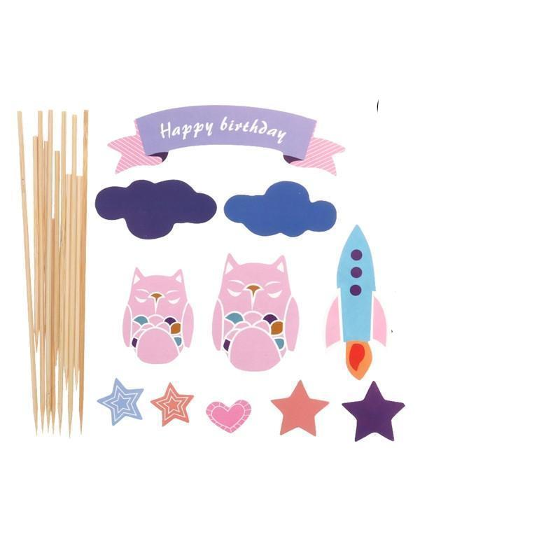Pink Owl - Cake Toppers - Miss Decorate