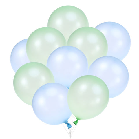 Balloon Mix - Blue/Green - 100 pcs - Miss Decorate