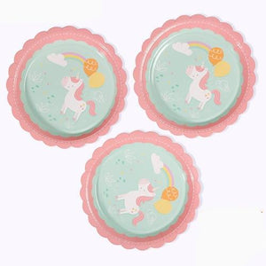 Rainbow Unicorn - Plates - Miss Decorate
